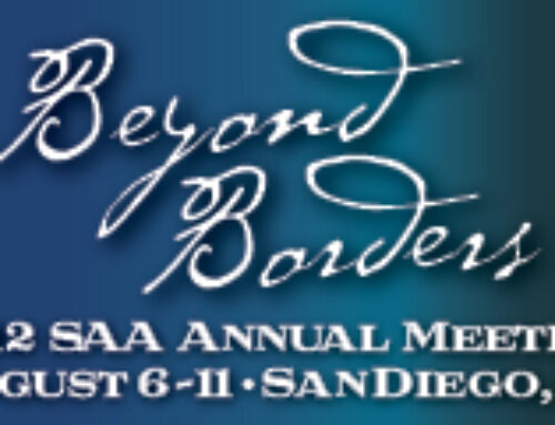 SAA2012: Beyond Borders Conference, A Personal Reflection